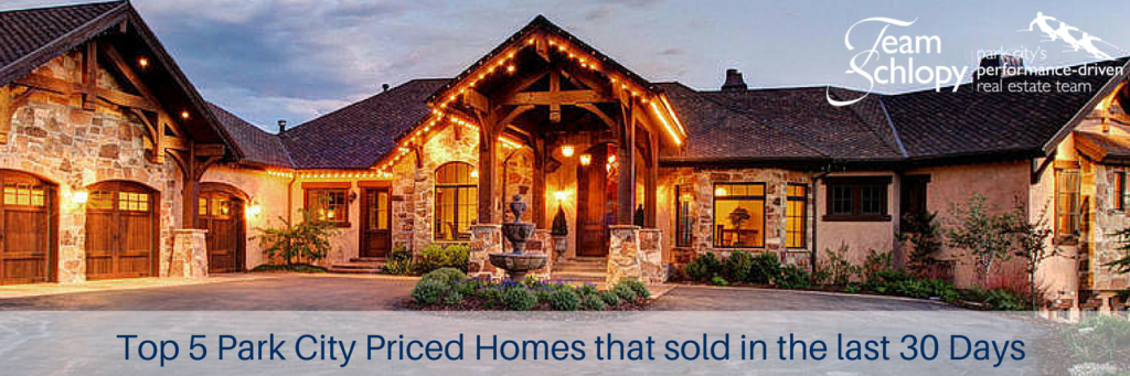Top 5 Park City Priced Homes